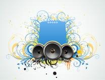 Blocco per grafici decorativo di musica Immagini Stock Libere da Diritti