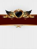 Blocco per grafici decorato con il modulo del cuore Fotografia Stock Libera da Diritti