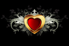 Blocco per grafici decorato del cuore Immagine Stock Libera da Diritti