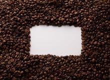 Blocco per grafici dei chicchi di caffè fotografie stock libere da diritti