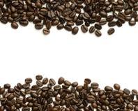 Blocco per grafici dei chicchi di caffè Fotografia Stock Libera da Diritti