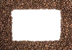 Blocco per grafici dei chicchi di caffè Immagini Stock Libere da Diritti