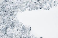 Blocco per grafici dei cubi di ghiaccio con lo spazio della copia Fotografie Stock