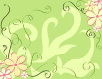 Blocco per grafici dei fiori Fotografia Stock