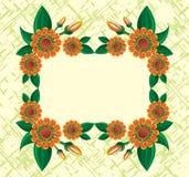 Blocco per grafici dei fiori immagini stock libere da diritti