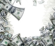 Blocco per grafici dei soldi fotografie stock libere da diritti