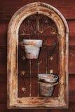 Blocco per grafici dei vecchi flowerpots fotografia stock libera da diritti