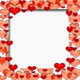 Blocco per grafici del biglietto di S. Valentino illustrazione di stock
