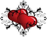 Blocco per grafici del biglietto di S. Valentino Fotografie Stock
