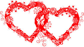 Blocco per grafici del biglietto di S. Valentino di Grunge, cuore, vettore Immagini Stock Libere da Diritti