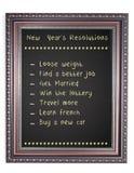 Blocco per grafici del bordo di gesso della risoluzione dell'nuovo anno Immagini Stock Libere da Diritti