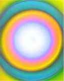Blocco per grafici del cerchio del Aqua Immagini Stock