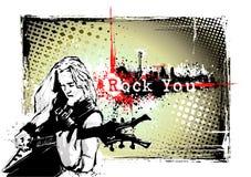 Blocco per grafici del chitarrista Immagini Stock