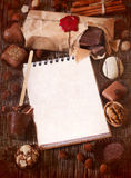 Blocco per grafici del cioccolato Immagini Stock