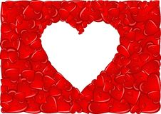 Blocco per grafici del cuore immagine stock