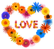 Blocco per grafici del cuore del biglietto di S. Valentino Fotografie Stock