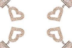 Blocco per grafici del cuore del diamante Fotografie Stock