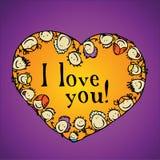 Blocco per grafici del cuore di amore Fotografie Stock