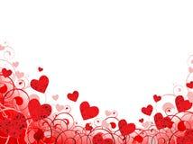 Blocco per grafici del cuore nel colore rosso con copia-spazio bianco Fotografia Stock
