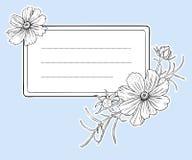Blocco per grafici del fiore dell'annata. Vettore. Fotografie Stock