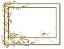 Blocco per grafici del fiore dell'oro Fotografie Stock Libere da Diritti