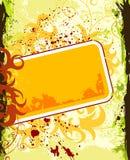 Blocco per grafici del fiore di Grunge Fotografia Stock