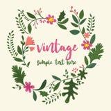 Blocco per grafici del fiore nello stile dell'annata royalty illustrazione gratis