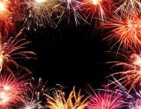 Blocco per grafici del fuoco d'artificio Fotografie Stock Libere da Diritti