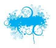 Blocco per grafici del grunge del fiocco di neve, elementi per il disegno, vettore Fotografie Stock Libere da Diritti
