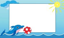 Blocco per grafici del mare con il piccolo delfino Fotografia Stock