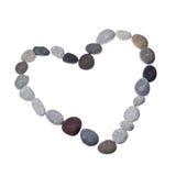 Blocco per grafici del modulo del cuore delle pietre colorate del mare Immagine Stock Libera da Diritti