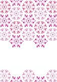 Blocco per grafici del mosaico con i fiocchi di neve Fotografie Stock