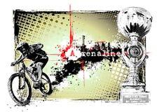 Blocco per grafici del motociclista Immagine Stock