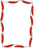 Blocco per grafici del peperoncino rosso Fotografia Stock Libera da Diritti