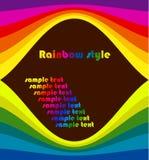 Blocco per grafici del Rainbow Immagine Stock