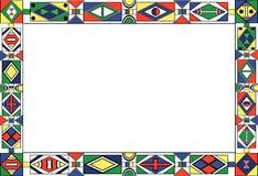 blocco per grafici del reticolo di Africano-tribale-arte