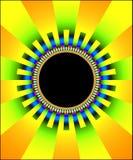 Blocco per grafici del sole di frattalo illustrazione vettoriale