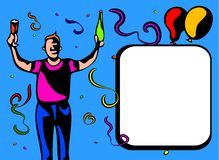 Blocco per grafici del tirante del partito royalty illustrazione gratis