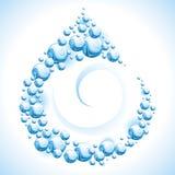 Blocco per grafici dell'acqua. Goccia. Immagini Stock Libere da Diritti