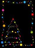 Blocco per grafici dell'agrifoglio ed albero di Natale Immagini Stock Libere da Diritti