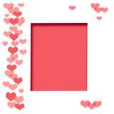 Blocco per grafici dell'album del biglietto di S. Valentino illustrazione vettoriale