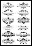 Blocco per grafici dell'annata illustrazione, ornamento Per testo royalty illustrazione gratis