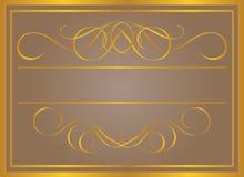 Blocco per grafici dell'annata in oro. Fotografia Stock Libera da Diritti