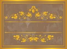 Blocco per grafici dell'annata in oro. Fotografie Stock Libere da Diritti