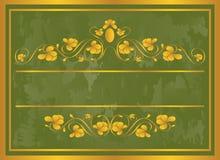 Blocco per grafici dell'annata in oro. Immagine Stock Libera da Diritti