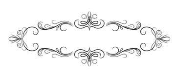 Blocco per grafici dell'annata Struttura d'annata di lusso elegante di calligrafia Fotografie Stock