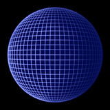 Blocco per grafici dell'azzurro del globo della terra Fotografia Stock Libera da Diritti