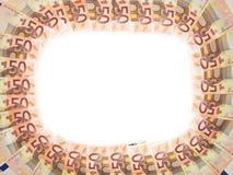 Blocco per grafici dell'euro 50 Fotografie Stock