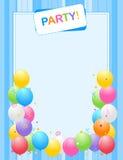 Blocco per grafici dell'invito del partito Fotografia Stock