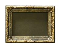 Blocco per grafici dell'oro L'oro/ha dorato le arti ed elabora la cornice del modello Isolato su bianco fotografia stock libera da diritti